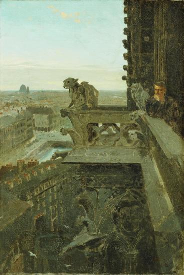 Gargoyles at Notre Dame, 1867-Winslow Homer-Giclee Print