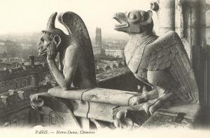 Gargoyles at Notre Dame, France