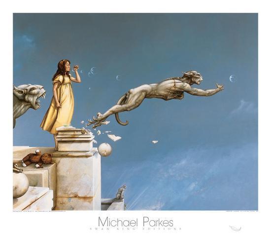Gargoyles-Michael Parkes-Art Print