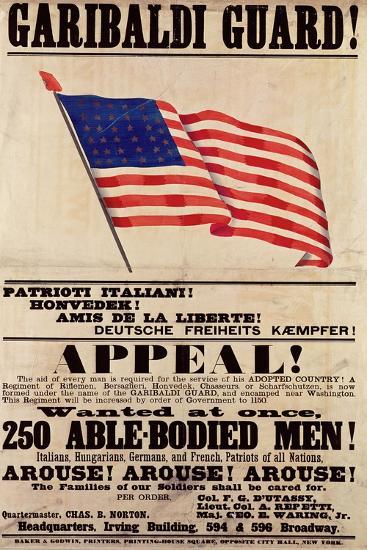 Garibaldi Guard! Appeal!--Giclee Print