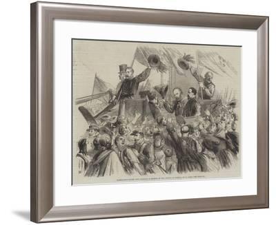 Garibaldi's Entry into Naples, a Sketch in the Strada Di Toledo-Thomas Nast-Framed Giclee Print