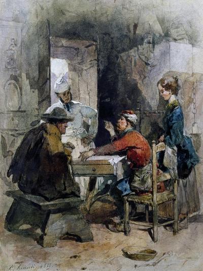 Garibaldian Recounting Tales, 1868-Paolo Riccardi-Giclee Print