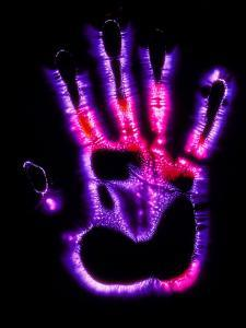 Kirlian Photograph of a Human Hand by Garion Gastrolab