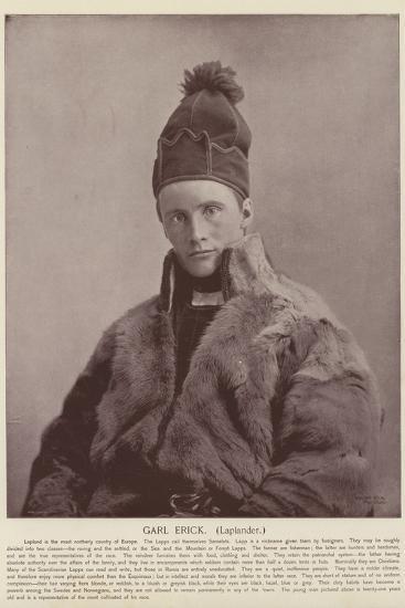 Garl Erick, Laplander--Photographic Print