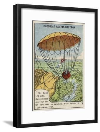 Garnerin Descending from a Balloon by Parachute, 1797