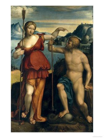 Poseidon and Athena