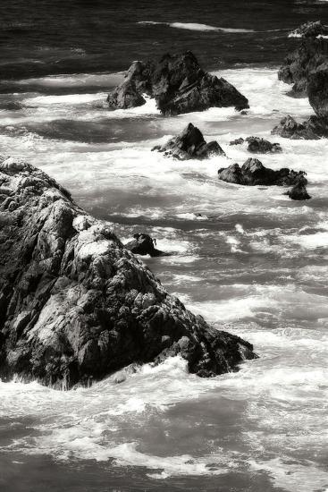 Garrapata Highlands 6 BW-Alan Hausenflock-Photographic Print