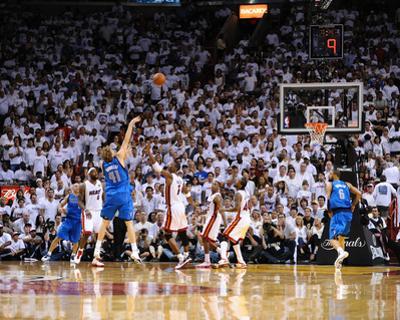 Dallas Mavericks v Miami Heat - Game Six, Miami, FL - June 12: Dirk Nowitzki and Chris Bosh by Garrett Ellwood