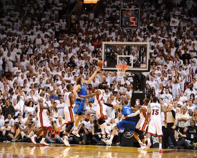 Dallas Mavericks v Miami Heat - Game Two, Miami, FL - JUNE 2: Dirk Nowitzki, Chris Bosh and Udonis