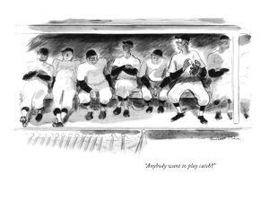 """Anybody want to play catch?"" - New Yorker Cartoon by Garrett Price"