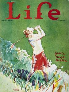 Golfing: Magazine Cover by Garrett Price