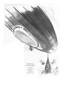 Happening of the Future-A Zeppelin bound for the Empire State Building run? - New Yorker Cartoon by Garrett Price