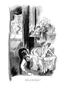 """Pardon me, Miss Plunkett."" - New Yorker Cartoon by Garrett Price"
