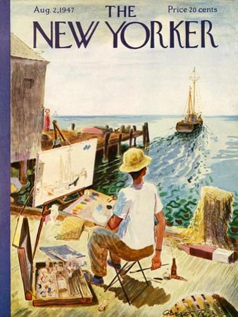 The New Yorker Cover - August 2, 1947 by Garrett Price