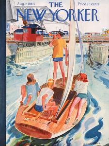 The New Yorker Cover - August 7, 1954 by Garrett Price