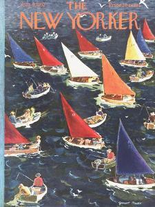 The New Yorker Cover - August 9, 1952 by Garrett Price
