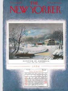 The New Yorker Cover - December 25, 1954 by Garrett Price