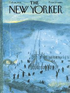 The New Yorker Cover - February 18, 1956 by Garrett Price