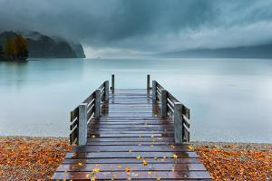 An Autumn Storm Rolls in across Lake Brienz from the Mountains of the Bernese Oberland by Garry Ridsdale