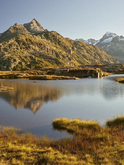 Garstenhorner, Grimselpass, Urner Alps, the Bernese Oberland, Switzerland-Rainer Mirau-Photographic Print