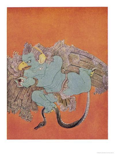Garuda the Eagle Who Became Vishnu's Mount-Nanda Lal Bose-Giclee Print