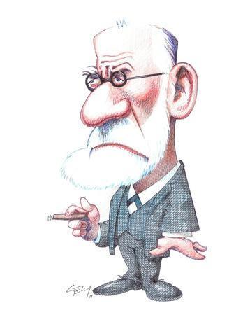 Sigmund Freud, Caricature