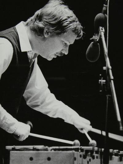 Gary Burton Playing the Vibraphone at the Forum Theatre, Hatfield, Hertfordshire, 25 November 1980-Denis Williams-Photographic Print