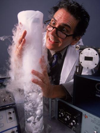 Confused Scientist in Lab