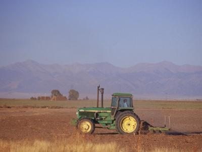 Farmer in Tractor, San Luis Valley, CO