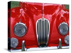 Front Detail of 1955 Jaguar Xk-140 by Gary Conner