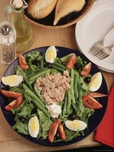 Nicoise Salad and Rolls Ready to Be Served by Gary Conner