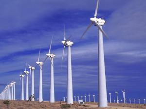Rows of Wind Powered Generators, Mojave, CA by Gary Conner