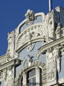 Art Nouveau Architecture, 10B Elizabetes Iela, Designed by Mikhail Eisenstein, Riga, Latvia by Gary Cook