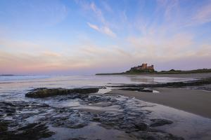 Bamburgh Castle at Dusk, Northumberland, England, United Kingdom, Europe by Gary Cook