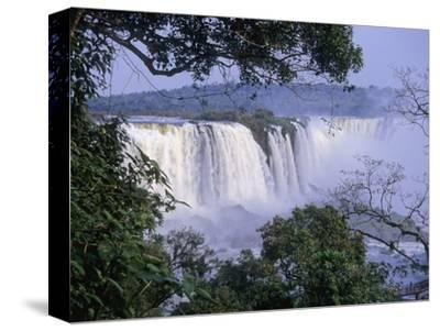 Brazilian Side of Iguazu Falls (Iguacu), on the Border Between Argentina and Brazil