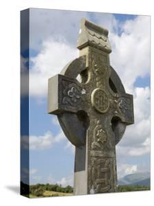 Celtic Style Cross, Graveyard at Burrishoole Abbey, Near Newport, County Mayo, Connacht, Ireland by Gary Cook