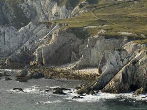 Cliffs Near Ashleam, Achill Island, County Mayo, Connacht, Republic of Ireland by Gary Cook