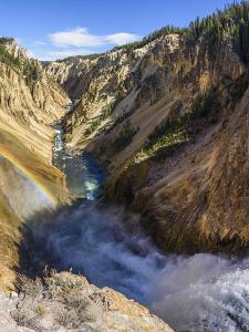 Grand Canyon of the Yellowstone River from Brink of the Lower Falls, Wyoming by Gary Cook