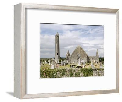 Kilmacdaugh Churches and Round Tower, Near Gort, County Galway, Connacht, Republic of Ireland