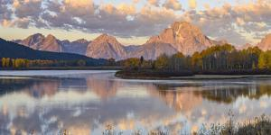 Mount Moran and Teton Range from Oxbow Bend, Grand Tetons National Park, Wyoming by Gary Cook