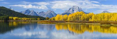 Mount Moran and the Teton Range from Oxbow Bend, Snake River, Grand Tetons National Park, Wyoming