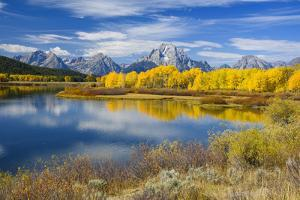 Mount Moran and the Teton Range from Oxbow Bend, Snake River, Grand Tetons National Park, Wyoming by Gary Cook