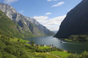 Naeroyfjorden, Near Bakka, Sogn Og Fjordane, UNESCO World Heritage Site, Norway by Gary Cook