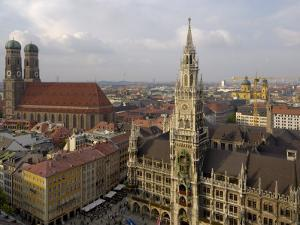 Neues Rathaus and Marienplatz from the Tower of Peterskirche, Munich, Germany by Gary Cook