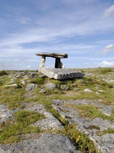 Poulnabrone Dolmen Portal Megalithic Tomb, the Burren, County Clare, Munster, Republic of Ireland by Gary Cook