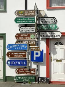 Profusion of Road Signs, Ballyvaughan, County Clare, Munster, Republic of Ireland by Gary Cook