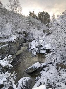 River Tromie in Winter Snow, Drumguish Near Kingussie, Highlands, Scotland, United Kingdom, Europe by Gary Cook