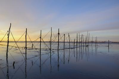 Salmon Fishing Nets, Solway Firth, Near Creetown, Dumfries and Galloway, Scotland, United Kingdom by Gary Cook