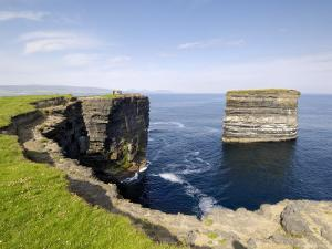 Sea Stack at Downpatrick Head, Near Ballycastle, County Mayo, Connacht, Republic of Ireland (Eire) by Gary Cook