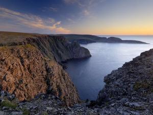 Sunset Over Nordkapp, North Cape, Mageroya Mahkaravju Island, Norway by Gary Cook